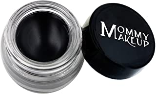 Mommy Makeup Waterproof Stay Put Gel Eyeliner with Semi-Permanent Micropigments - smudge-proof, long wearing, paraben-free - Black Beauty (Pure Black)