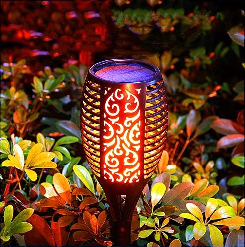 Llama Luz Solar Exterior Lámpara Grande Solar para Jardín, Antorchas Solares Exterior 96 LED IP65 3 Modos de iluminación para Exterior, Jardín, Camino, Patio, zona peatonal(2pcs)