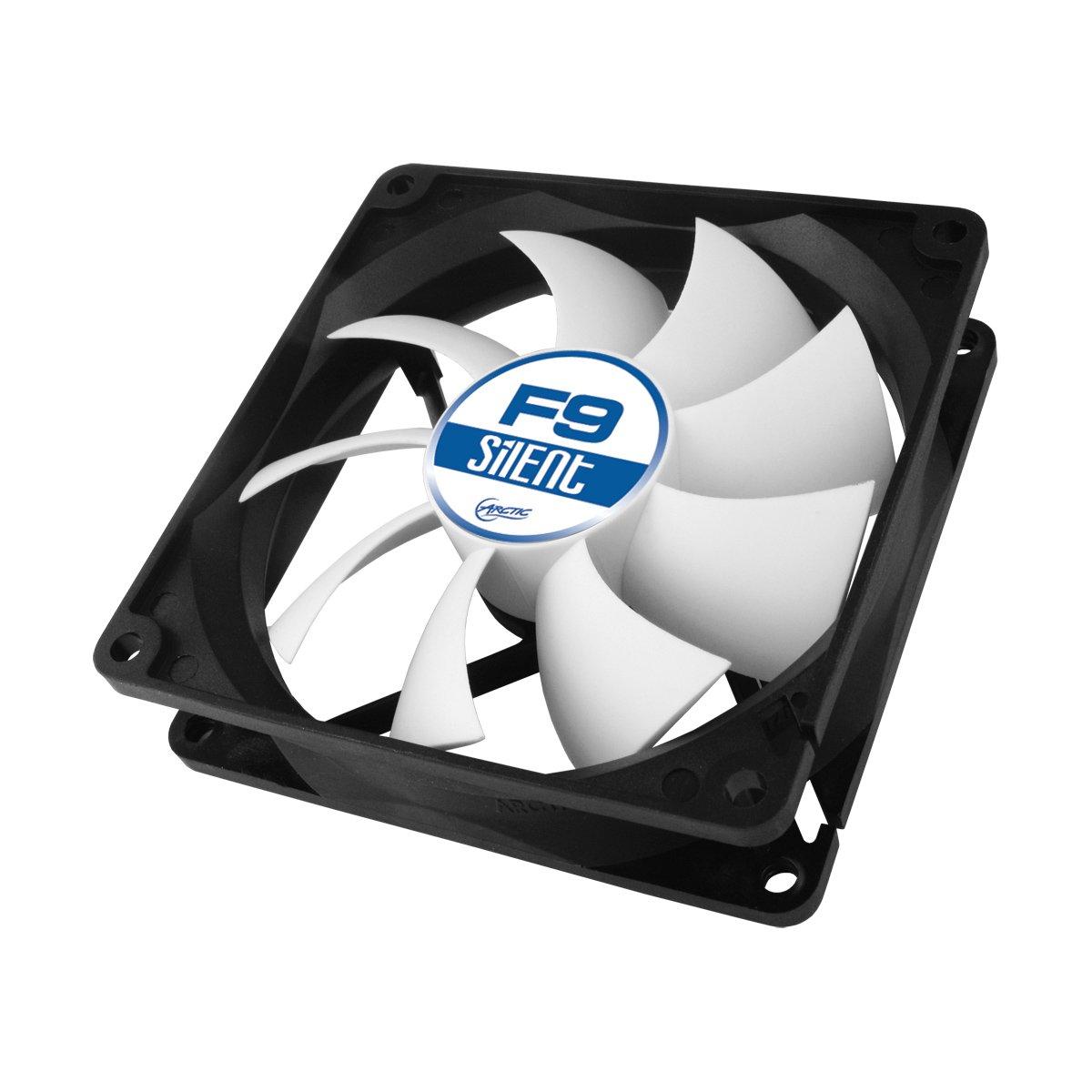 ARCTIC F9 Silent – Ventilador de Caja para CPU, Motor Muy Silencioso, Computadora, 1000 RPM – Gris/Blanco/Negro, 92 mm (ACFAN00026A): Amazon.es: Informática
