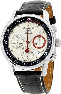 Longines - L47544724 - Reloj para Hombres, Correa de Cuero Color Negro