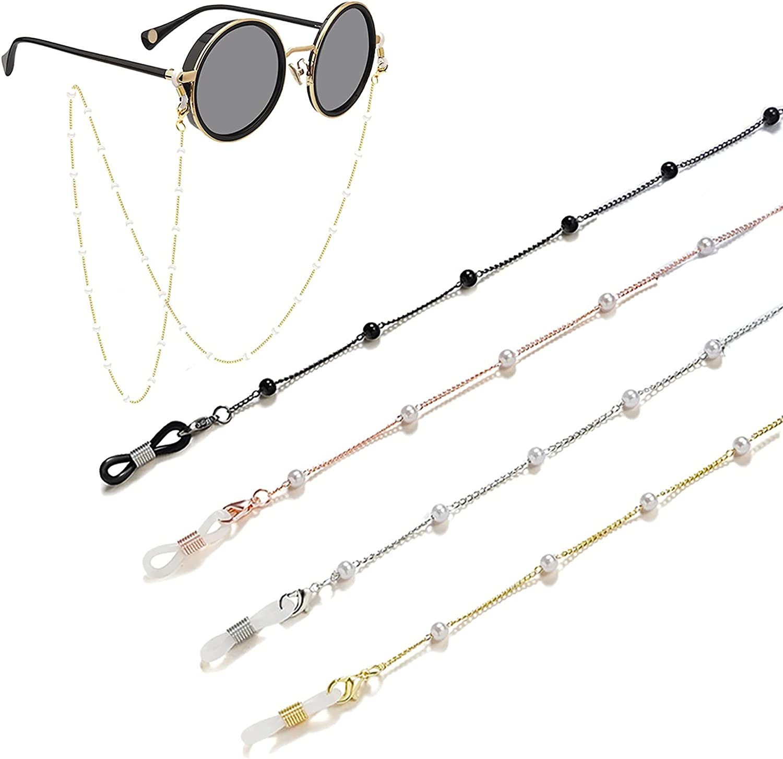 Mask Chain(4PCS) Pearl Eyeglass Chain/Glasses Chain Girls, Mask