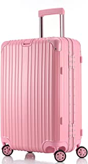 GLJJQMY Trolley Case 24 Inch Trolley Caster Suitcase Trolley case (Color : Pink, Size : 29 inches)