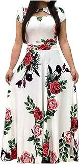 KYLEON Women's Long Sleeve Maxi Dress Floral Loose Casual Tunics T Shirt Dresses Elegant Swing Summer Long Sun Dress