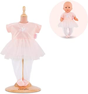 """Corolle - Mon Premier Poupon Ballerina Outfit for 12"""" Baby Dolls, Pink/White"""