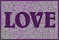 ERZAN大人のパズル1000言葉愛II紫減圧ジグソーおもちゃキッズギフト