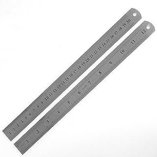 30 cm 12 Zoll Stahllineal Stahlmaßstab Metalllineal Lineal 300mm Werkstattlineal