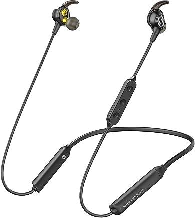 Auriculares Bluetooth 5.0 SoundPEATS Engine Dual Drivers Cascos inalámbricos estéreo con Doble Controlador, IPX6 Resistente al Agua Doble Batería Reproducción de 13 Horas para iOS Android PC