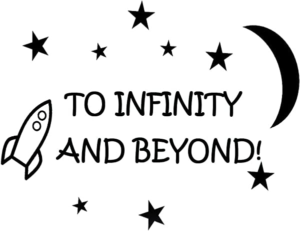 To Infinity And Beyond Vinyl Wall Decals Quotes Kids Room Wall Quote Nursery Wall Decals Boys Room
