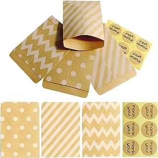 VAZUDA 30sets Small Kraft Coin Envelopes Kraft Paper Mini Bag Gift Wrap Bags Tiny Treat Bags Small Envelopes Paper Bag for...