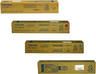 Best Toshiba TFC50UK TFC50UC TFC50UM TFC50UY  e-Studio 2555 3055  3555 4555 5055 Toner Cartridge Set (Black Cyan Magenta Yellow, 4-Pack) in Retail Packaging Review