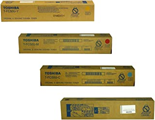 Toshiba TFC50UK, TFC50UC, TFC50UM, TFC50UY Standard Yield Toner Cartridge Set