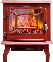 Inserto de chimenea eléctrico (rojo) Chimenea eléctrica, chimeneas de estufa eléctrica, estufa de leña Estufa de fuego eléctrica Chimenea eléctrica independiente Estufa de interior Calentador Estufa d