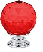GAXQFEI Deurklink Kast Deurklink 5/10 Stks 30 Mm Crystal Ball Glas Knoppen Kast Lade Trek Keukenkast Deur Garderobe Handva...