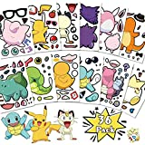 Cute Make You Own Pikachu Stickers Animal Reward Sticker for Kids Gifts, Art Craft, Party Favors, Party Goodie Bags, Laptop, Luggage, Wall Stickers, Kids Notebook Room Decor