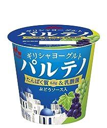 [冷蔵] 森永乳業 3倍濃縮 ギリシャヨーグルト パルテノ ぶどうソース入 80g