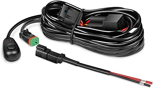 2021 Nilight - 10017W 16AWG DT Connector Wiring Harness Kit LED Light Bar 12V On outlet sale lowest Off Switch Power Relay Blade Fuse for Off Road Lights LED Work Light-ONE Lead,2 Years Warranty outlet online sale