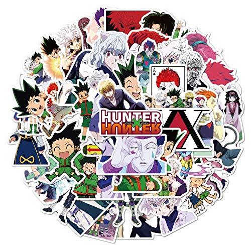 JZLMF 50 pegatinas Hunter Anime Graffiti para maleta, ordenador portátil, casco, pegatinas impermeables