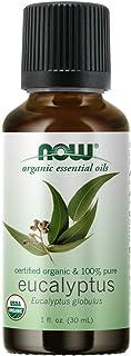 NOW Essential Oils, Organic Eucalyptus Globulus Oil, Clarifying Aromatherapy Scent, Steam Distilled, 100% Pure, Vegan, Chi...