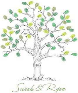SwirlColor alternativa libro de invitados para boda árbol de huellas dactilares Thumbprint árbol de libro de invitados con almohadilla de tinta