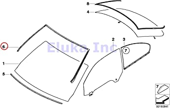 BMW Genuine Exterior Trim Grill Seals Windshield Moulding Front Upper  328i 328xi 335i 335xi M3 328i 328xi 335i 335is 335xi M3
