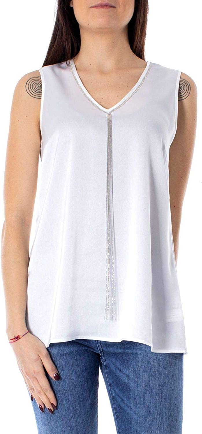 Anis Collection Milano Women's 931245WHITE White Polyester Tank Top
