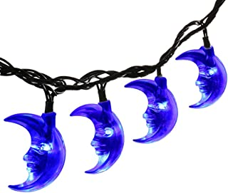 Solar String Lights,20ft 30LED Ramadan Moon Fairy Solar Lights for Halloween,Christmas Outdoor,Garden,Home,Wedding,Party and Holiday Decorations [Blue]