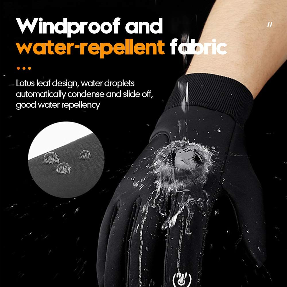 Running Gloves with Touch Screen - Winter Glove Liners for Texting, Cycling - Thin & Lightweight Cold Weather Thermal Gloves