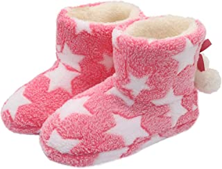 Image of Pink Star Bootie Slippers for Women - Also available in Grey