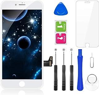 BuTure iPhone7 フロントパネル 画面交換修理用LCD液晶 3Dタッチパネル 交換用タッチパネルフロントガラス 4.7 インチガラス 強化ガラスフィルム 修理工具付き (白い)