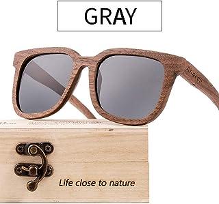 4d6b8bab28 Sunbobo Gafas de Sol de Verano Gafas de Sol de Madera UV-400 Lentes  polarizadas para Hombres y Mujeres Que bloquean 100% UV Marco de Metal  Ultra Ligero ...