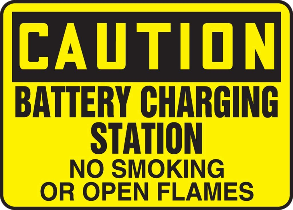 CAUTION shopping BATTERY Miami Mall CHARGING STATION NO FLAMES OPEN SMOKING OR