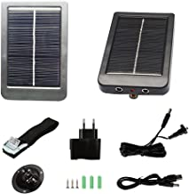 Trail Camera Solar Panel Kit - Waterproof Solar Charger with a 1500 mAH Rechargeable Lithium Battery - Outdoor Power System for Game, Hunting or Trail Cameras by CreativeXP – Save Money & Time