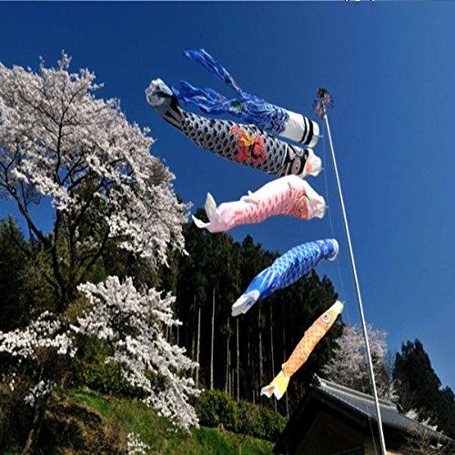 Bluelover 1 Set 5Pcs Japanischen Karpfen Flag Banner Windsack Sailfish Koinobori Wind Streamer Muticolor Karpfen