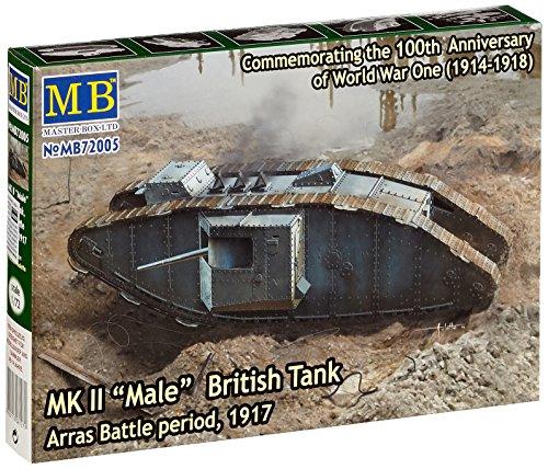 Masterbox 1:72 - Mk II 'Male' British Tank, Arras Battle Period 1917