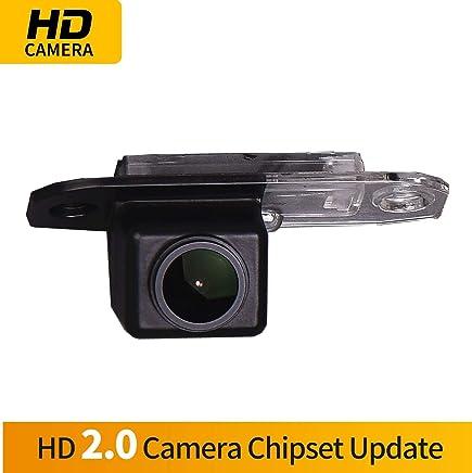 C/ámara de Marcha atr/ás HD integrada en la Placa de matr/ícula c/ámara de visi/ón Trasera de visi/ón Nocturna IP68 para Volvo S90//S80L//S40//S80 V60//XC90//XC60 C30//C70//S60//V40R V50//XC70
