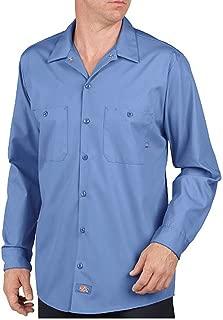 Dickies Men's Long Sleeve Industrial Wrinkle Resistant Work Shirt, Light Blue Dow
