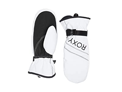 Roxy Roxy Jetty Solid Snow Mitt (Bright White) Ski Gloves