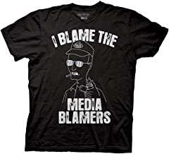 Ripple Junction King of The Hill Adult Unisex Big and Tall Dale Blame The Media Blamers Light Weight 100% Cotton Crew T-Shirt