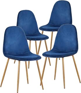 blue and gold dining chairs