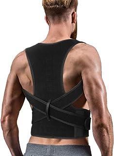 Best Back Brace Posture Corrector for Women Men - Back Lumbar Adjustable Support Shoulder Posture Support for Improve Posture Provide and Back Pain Relief - for Lower and Upper Back Pain L(33