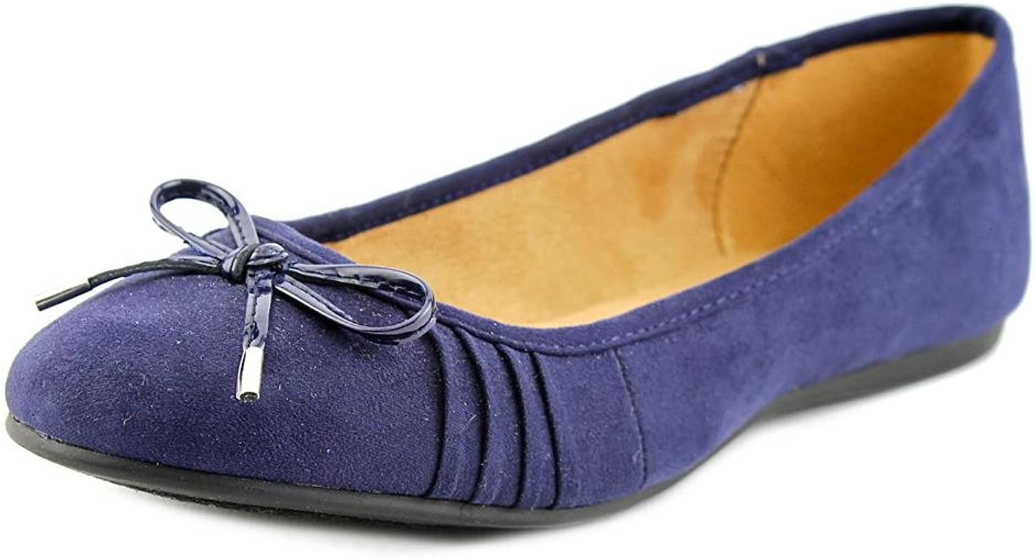 Style & Co Addia Women Round Toe Synthetic bluee Flats, Navy, Size 5.0