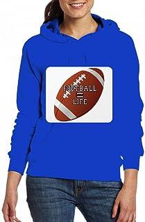 サッカーはライフに等しい Women Pocket Hoodie Sweater レディーズ トップス パーカー アクティブウェア