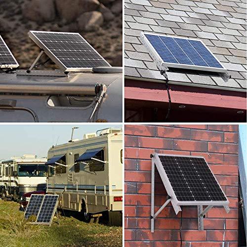 Renogy Adjustable Solar Panel Tilt Mount Brackets, with Foldable Tilt Legs on any Flat Surface for Off-Grid Systems