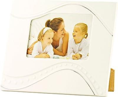 "Belleek Pottery Living Silver Ripple Platinum Detail Frame, 5 by 7"""