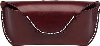 Boleke Unisex Handmade Genuine Leather Eyeglass Case Vintage Sunglasses Eyewear Protective Holder