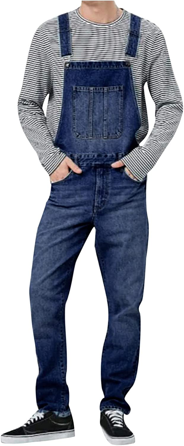 Mens Denim Max 54% OFF Overalls Popularity Classic Relaxed-fit Fit Slim Jumpsuit P with