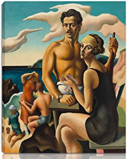 Thomas Hart Benton Stretched Giclee Print On Canvas-Famous Paintings Fine Art Poster Reproduction Wall Decor-Ready to Hang(Self Portrait with Rita)#NK