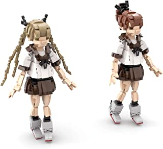 Yamix 1200+Pcs Anime Girls Building Block, JK Uniform Girls Building Bricks Ponytail Princess Girl Bricks Model