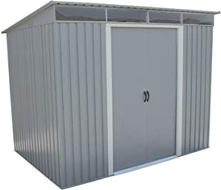 Duramax 50371 Pent Roof Galvanized Steel Storage Shed, 8-5/8'W x 6-1/16'D x 6-5/8'H, Lot of 1