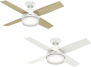 Hunter 112 cm | 44 pouces Dante Ventilateur de Plafond Blanc avec Système d'Éclairage et Télécommande, 50629